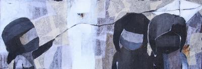 Untitled 13, 2013, mixed media on canvas, 35x10ocm