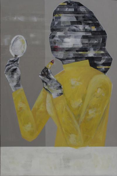 Habits, 2019, Mixed media on canvas, 120 x 80 cm