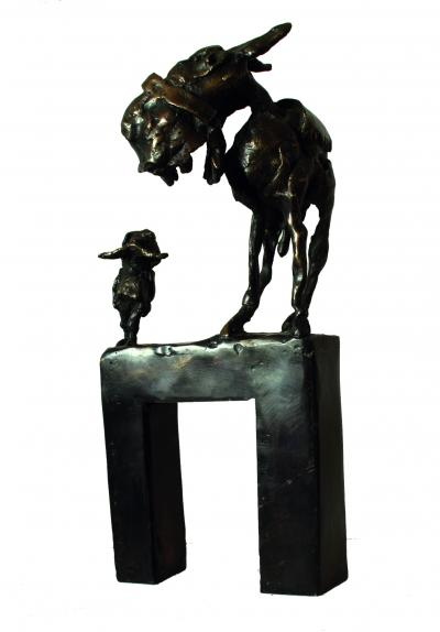 Untitled 13, 2017, Bronze, 28 x 12 cm