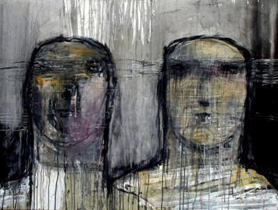 Untitled 160x120cm, mixed media on canvas