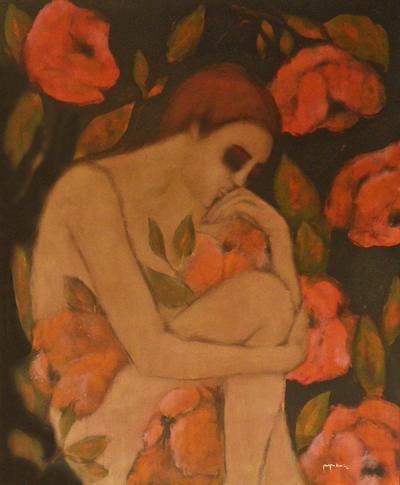 Breathless 2, 2015, acrylic on canvas,150x120cm.