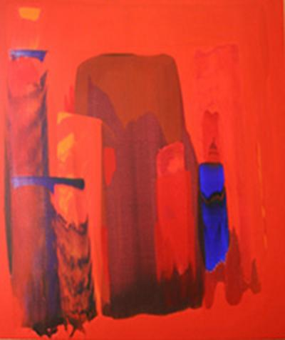 Souffle de tendresse, 2008, acrylic on canvas, 140 x 120 cm.