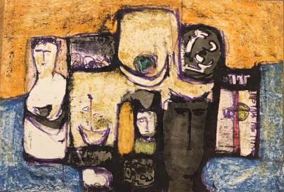 Untitled B9, 1984, Mixed media on paper, 35 x 50 cm