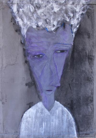 Untitled 34, 2018, acrylic on canvas, 139x98cm