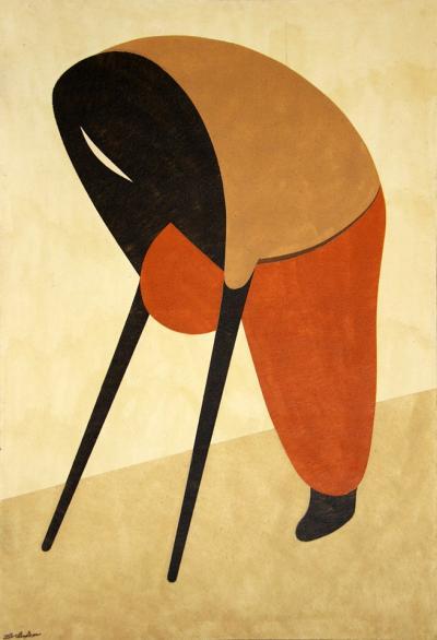 Lamer Notrecham, 2012, natural sand on canvas, 111x161cm