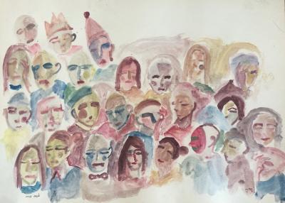 Untitled 9, 2019, watercolor on cardboard, 55 x 75 cm