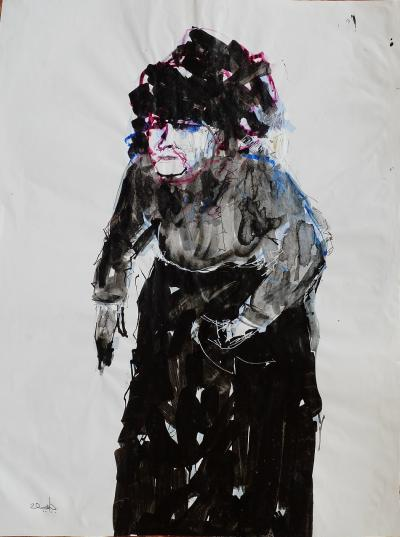 Untitled 305, mixed media on paper,  21 x 30 cm