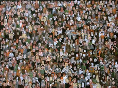 1000 Faces, 2020, acrylic on canvas, 200 x 150 cm