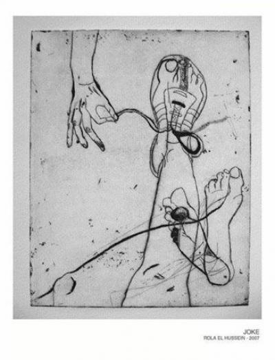 Joke, 2007, etching