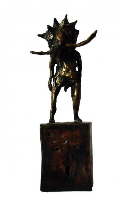 Untitled 21, 2017, Bronze, 15 x 10 cm