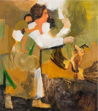 The mother, 2016, Acrylic on linen, 115x102cm