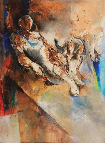 Untitled 34, 2013, Acrylic on canvas, 72x52.5cm