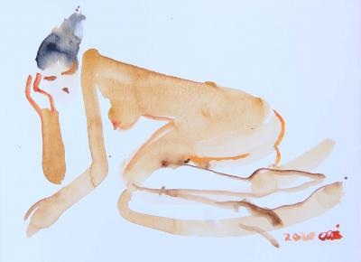 Untitled 57, watercolor on paper, 30 x 21 cm
