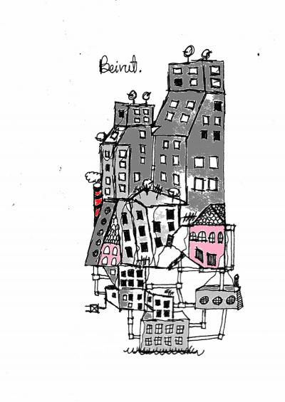 Rafik Majzoub, Beirut Unfinished, 2019, Print, 42 x 30 cm