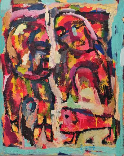 Eternal struggle, 2012, mixed media on canvas, 100x80cm