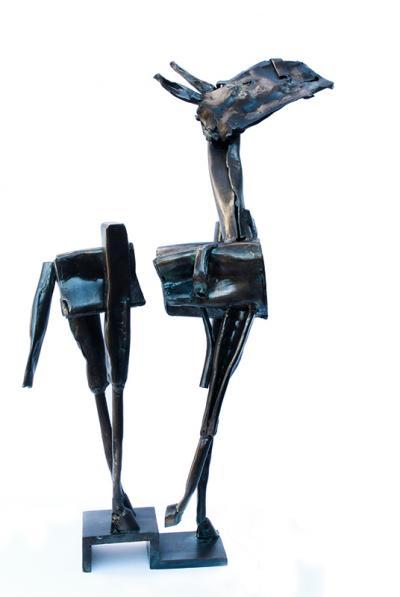 Doudou métallique 5, 2015, iron, 44x28x19 cm