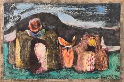 Untitled B10, 1984, Mixed media on paper, 22 x 33 cm