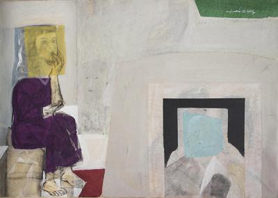 In my atelier,2013,mixed mesia on canvas, 90x120cm
