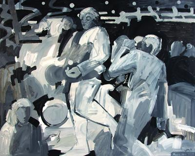 Jazz I The band, 2010, acrylic  on linen, 160x200cm