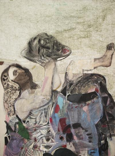 Salome,2014mixed Media &collage on canvas,120x90cm
