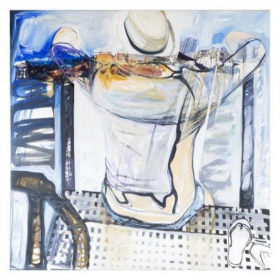 Nostalgia for tomorrow, 2015, Oil & mixed media on canvas, 100x100cm