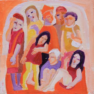 Untitled 31, 2020, acrylic  on canvas , 45x45 cm