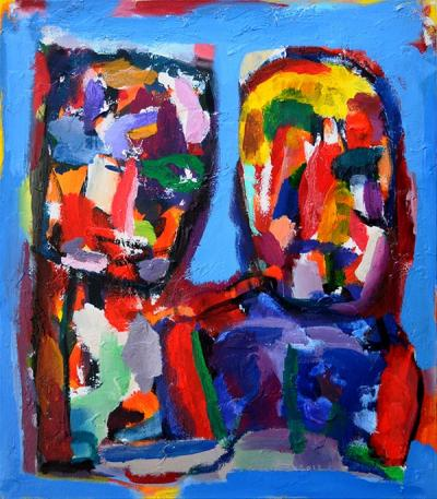 Both of us, 2012, acrylic on canvas, 80x70cm