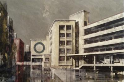 Brasserie Du Levant I, 2016, Acrylic on canvas, 120 x 180 cm