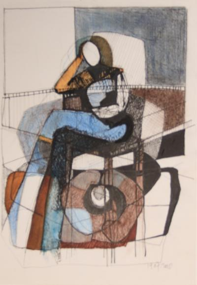 untitled 16, 2010, mixed media on paper, 30 x 21 cm