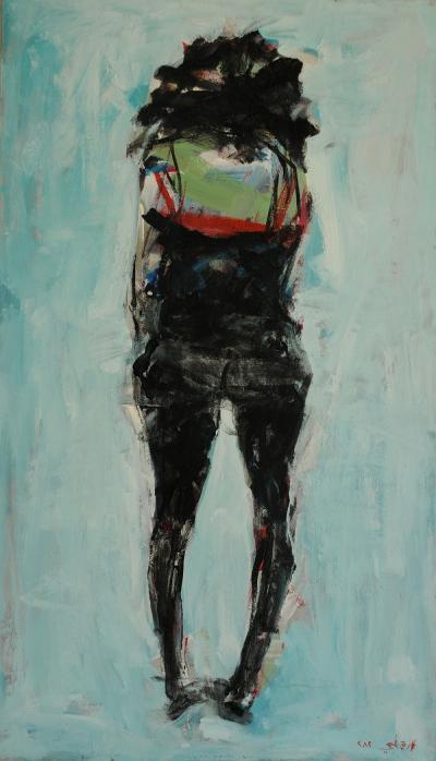 Untitled, 2012, acrylic on  canvas, 120 x 70  cm