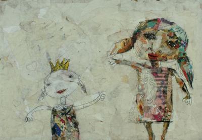 Untitled 61, 2019, Collage on cardboard, 32 x 43 cm