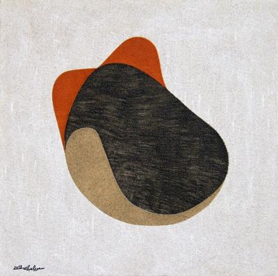 Detained, 2011, natural sand on canvas, 100x100cm