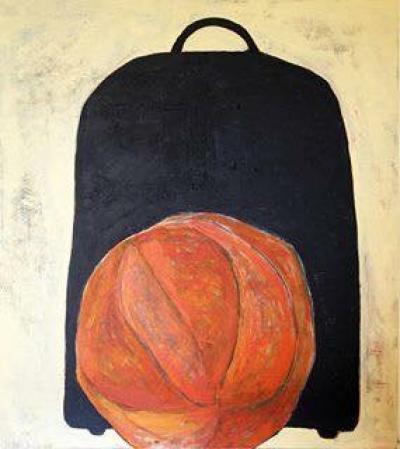 Big bag- Big orange, 140x130 cm