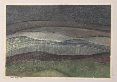 Untitled B3, 1987, Mixed media on paper, 21 x 30 cm