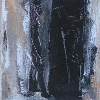 Untitled 48, 2012, Mixed media on canvas, 40x40 cm