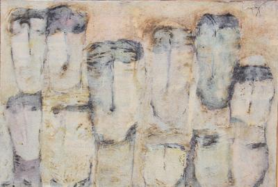 Untitled 64, 2003, Mixed Media on paper, 39x57cm
