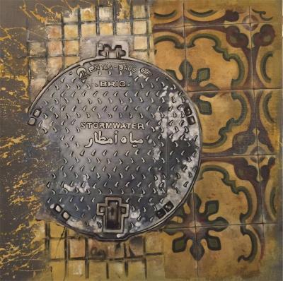 مصرف لبنان, acrylic on canvas, 2016, 100x100cm