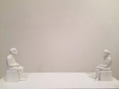 Couple 2, 2016, Resin, 20x30x6.5 cm