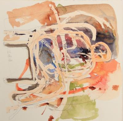 untitled  11, 2008, mixed media on paper, 20x20cm
