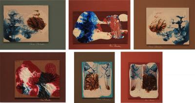 Synapses 2012, acrylic on wood, 19 x 15 cm x 6 20 x 23 cm x 1.