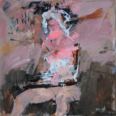 Writer,2014, acrylic on canvas, 60x60cm