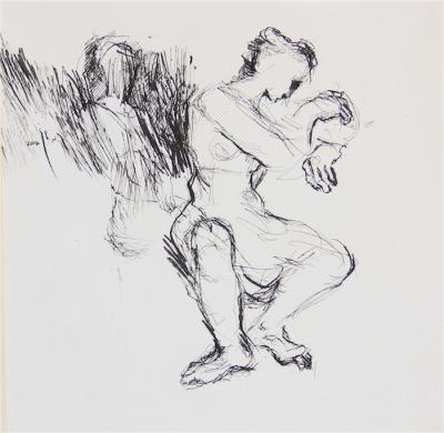 Untitled 20, 2014, Ink on Paper, 27x27 cm