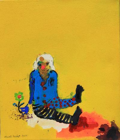 untitled 5, 2014, acrylic on canvas, 34x29cm