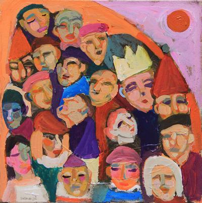 Untitled 24, 2020, acrilyic on canas, 45 x 45 cm