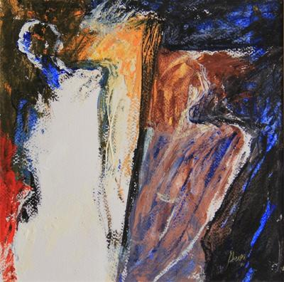 Untitled 18, 2001, Acrylic on Paper, 27x27cm