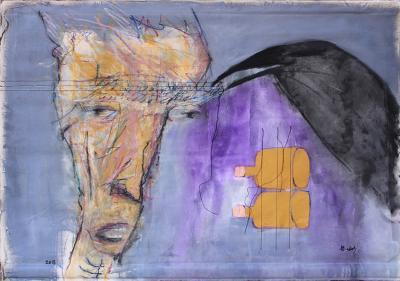 Untitled 35, 2018,  acrylic on canvas, 97 x 138 cm