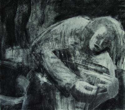 Promethee, 2013 charcoal on paper 48x54 cm