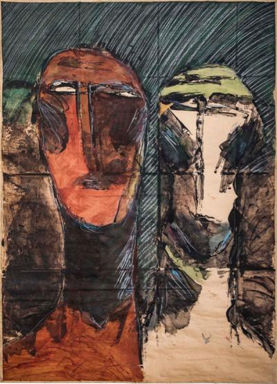 Untitled 103, 1989, mixed media on papers, 96.5 x 68 cm