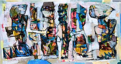 Picnic, 2019, Acrylic on canvas, 85 x 160 cm
