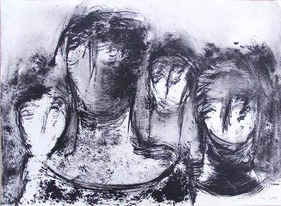 Untitled 22, 2013, mixed media on paper, 56x76 cm